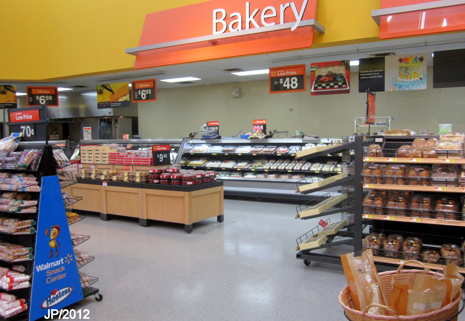 WALMART BAKERY DEPARTMENT, WalMart Super Center Bakery Wal Mart Store