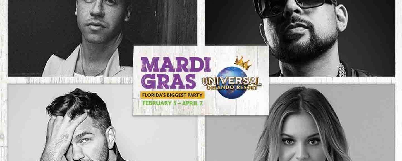 Conheça as estrelas que irão se apresentar no Mardi Gras 2018 do Universal Orlando Resort
