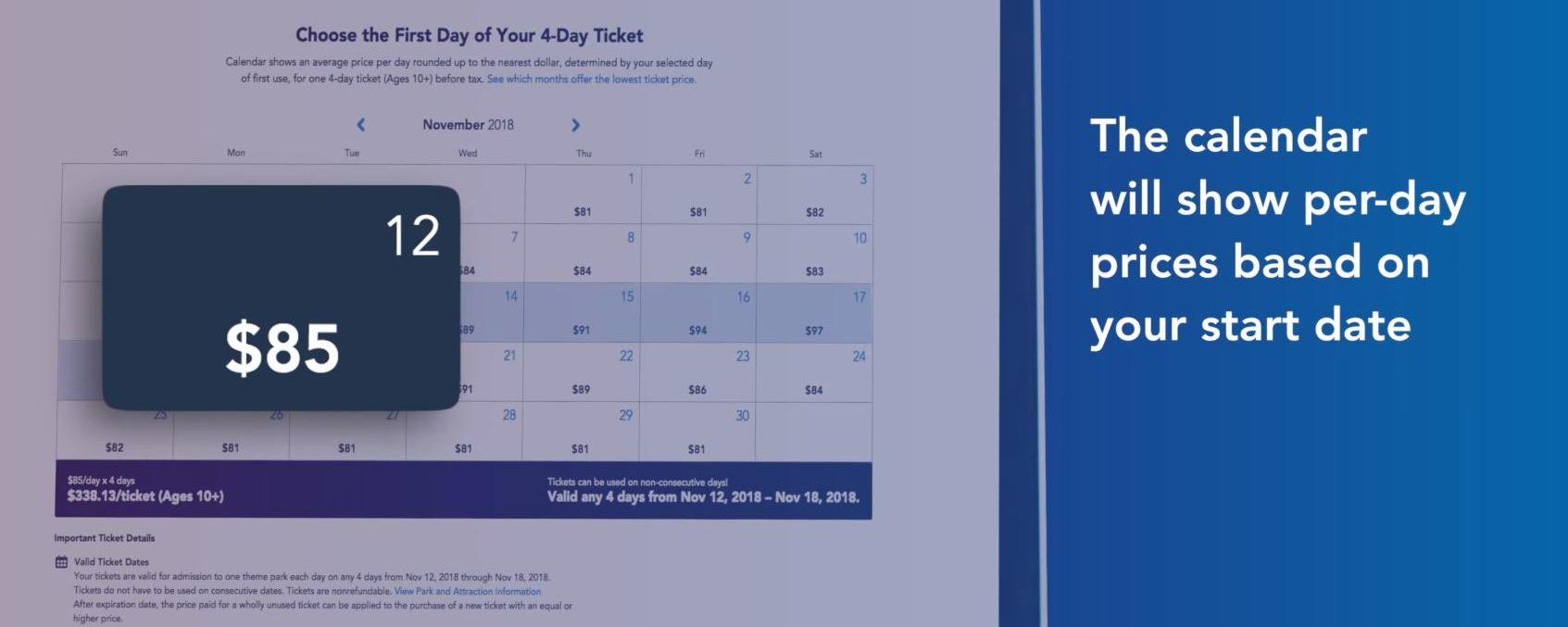 Novo sistema de preços de ingressos da Disney passa a vigorar a partir de 16 de outubro de 2018