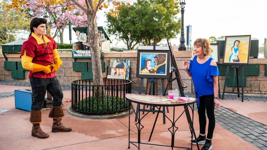 Paige O'Hara Paints Gaston at Epcot