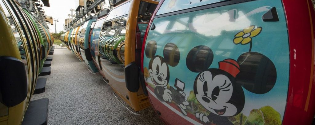 Nova colisão ocorrida no sistema de transporte Disney Skyliner