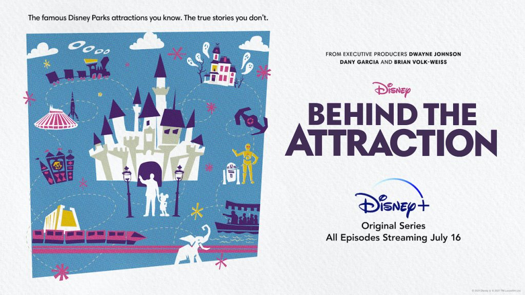 Poster for new 'Behind the Attraction' Original Series Coming to Disney+